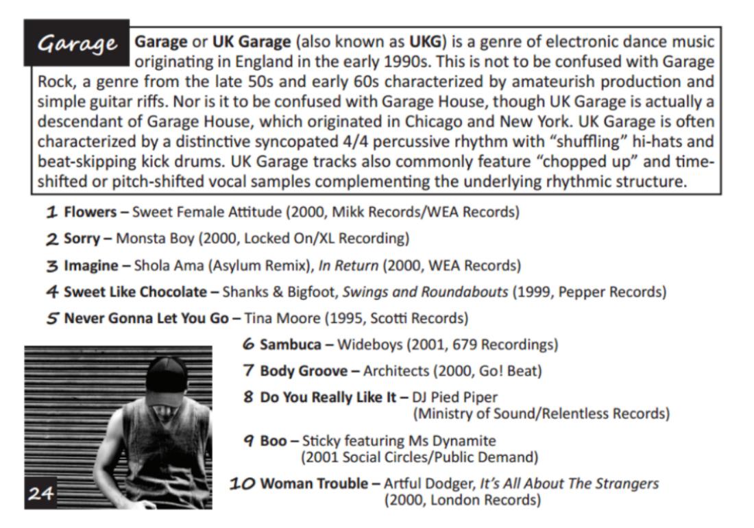 Garage Top Ten Tunes